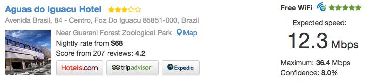 Hotel Águas do Iguaçu conexão internet