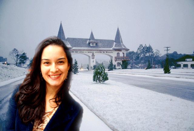 Já estamos vendo a Camila com toda sua garbosidade lá em Gramado