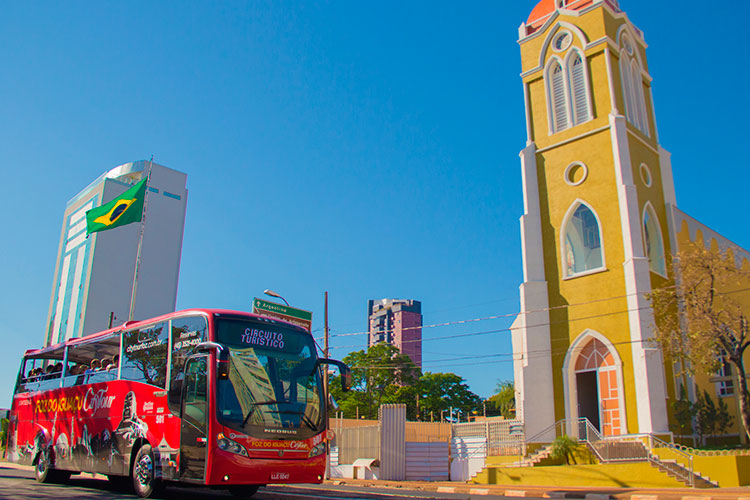 Rota brasileira do Iguassu City Tour.