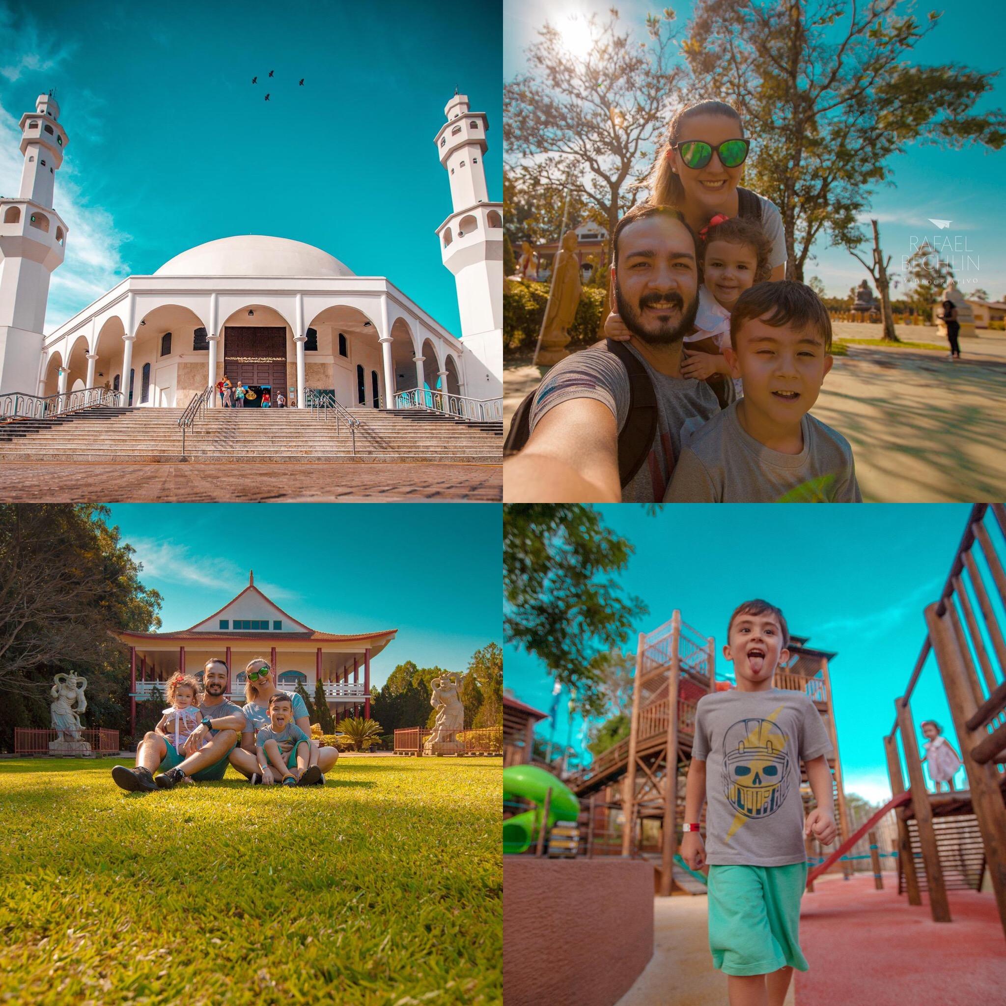 A família do fotógrafo Rafael Bechlin aproveitou muito Foz do Iguaçu