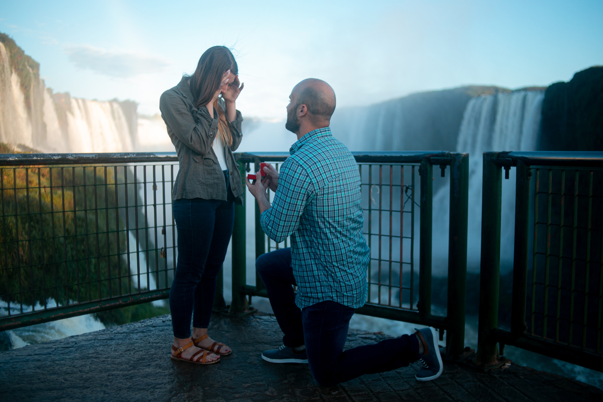 Pedido de casamento nas Cataratas