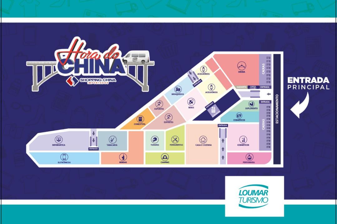 Mapa Loja Shopping China