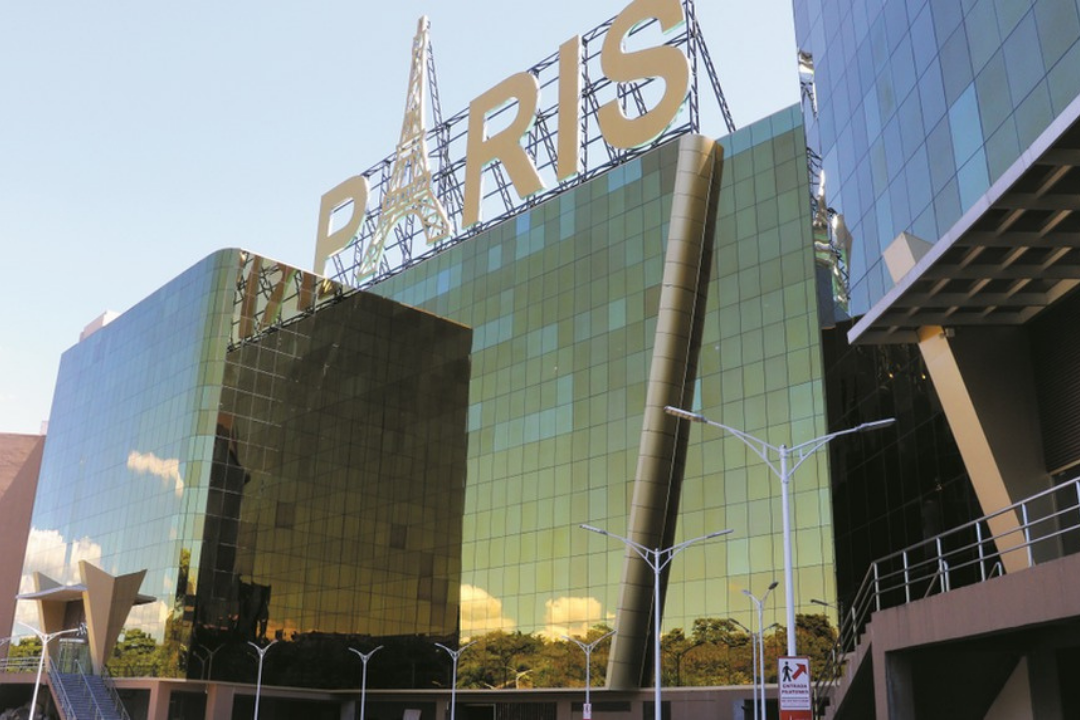 Vista do Shopping Paris em Ciudad Del Este no Paraguai.