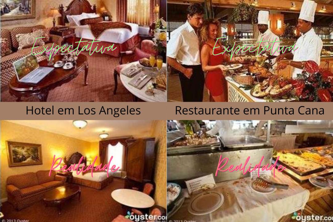 Reserva de hotel e restaurante que não atingiu a expectativa