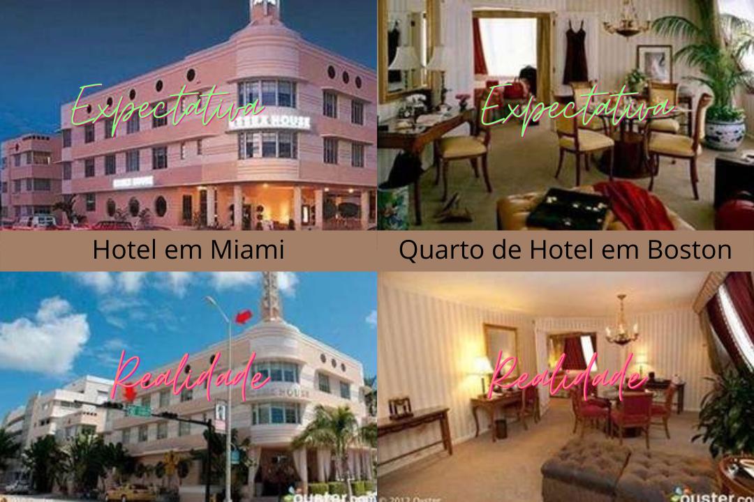 Reserva de hotel que não atingiu a expectativa criada pela imagem